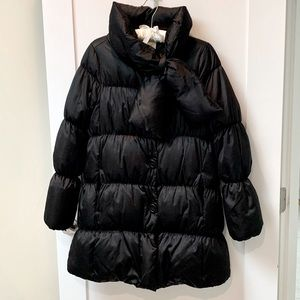 Kate Spade Bow Neck Black Puffer Coat